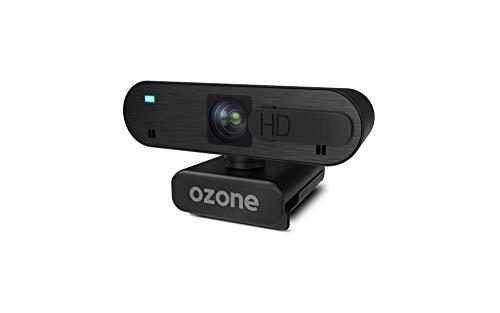 Camara Web Ozone Livex50 - Diseñada para Gaming - Webcam 1080p, 30fps, 2 Microfonos, Autofocus, USB, Negro
