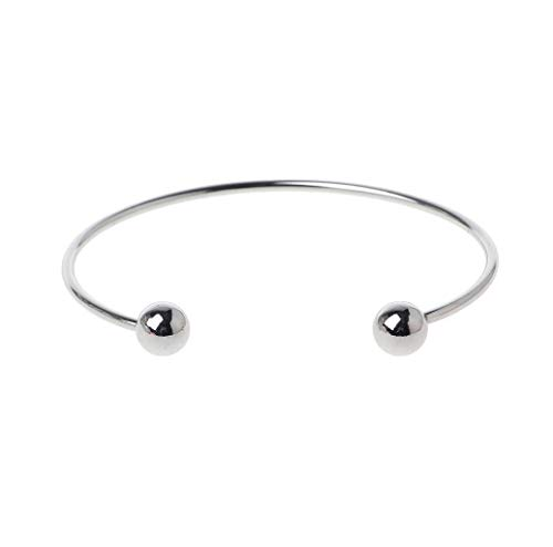 VVXXMO Women Men Couple Closure Ball Adjustable Blank Bracelet,Expandable Bangle,DIY Jewelry Making