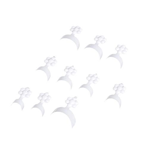 Mobestech 100Pcs Kurze Nagelspitzen Französisch Nagelspitzen Nail Art Tipps Halbe Nagelspitzen Falsche Nagelspitzen UV-Gel Beauty-Tools für Nagelstudio Shop