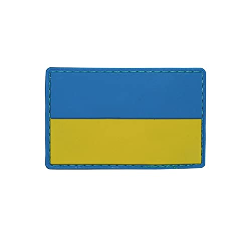 Copytec 3D Patch Ukraine Kiew Fahne Flagge Abzeichen Aufnäher 8x5cm #37012