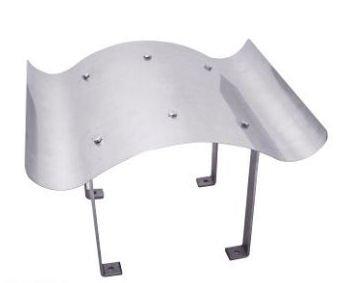 Roestvrijstalen schoorsteenafdekking WAVE 60x80 cm schoorsteenkap roestvrij staal