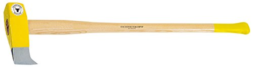 Ochsenkopf Profi-Spalthammer, Extra große Schlagfläche, Langlebiger Stiel aus Hickoryholz