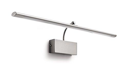 Philips Lighting Philips myLiving Mahogany - Aplique de pared, LED integrado, consume 10 W, luz blanca cálida, no regulable, Cromada mate,