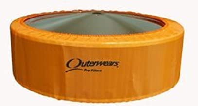 "NEW OUTERWEARS COVER FOR 14"" O.D. X 6"" TALL AIR FILTERS, ORANGE PRE-FILTER, 411-336 411-386 AFE 18-11407 18-11427 18-21404..."