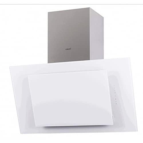 Cata | Campana Decorativa de Pared | Modelo Thalassa 900 XGWH/F | Ancho de 90 cm | 6 Niveles de Potencia | Clase de eficiencia Energética A+++ | Acabado en Cristal Blanco