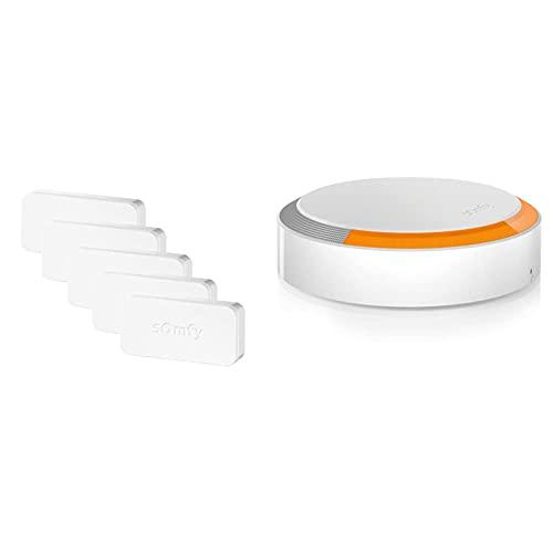 Somfy Kit da 5 IntelliTAG 2401488 Sensori Antifurto wi-fi di sicurezza per Porte e Finestre & Sirena Esterna Antifurto Wireless I Collocamento Esterno Casa I Rilevamento