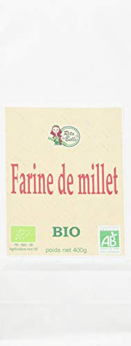 RITA LA BELLE Farine de Millet Bio - 400 g - Lot de 6