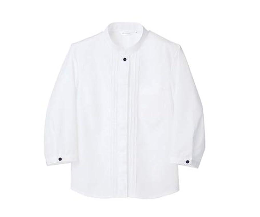 でも揺れるブランクシャツ レディス 7分袖 白 エコ/61-6154-33