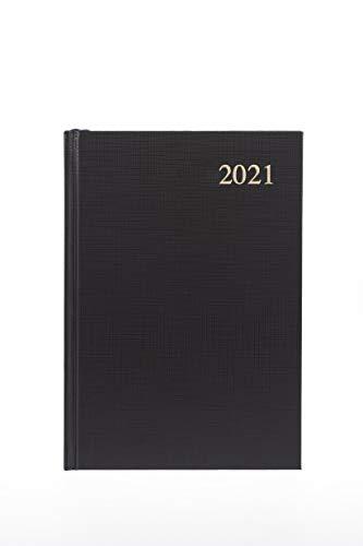 Collins Essential - Agenda de 2021 (tamaño A4, vista semanal), color negro - 30.5 x 1 cm