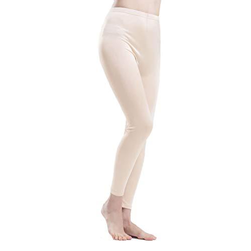 Paradise Silk Pure Silk Knit Women Underwear Long Johns Bottom Only[US6,Beige]
