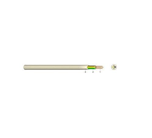 Ecoline YYSCH 2X0,6 ELF PVC Fernmelde-Schlauchdraht Aderleitung Fernmeldeleitung Telefon Installation Kabel eindrähtig 0,6 mm Elfenbein 50m Bund