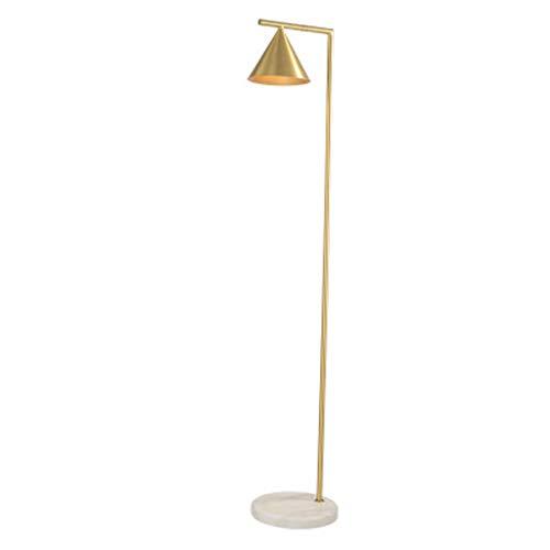 Led-vloerlamp in de woonkamer en slaapkamer industriële lamp verticaal op de messing scherm H65 - kantoor van het fijnste verguld messing en mooie downlight