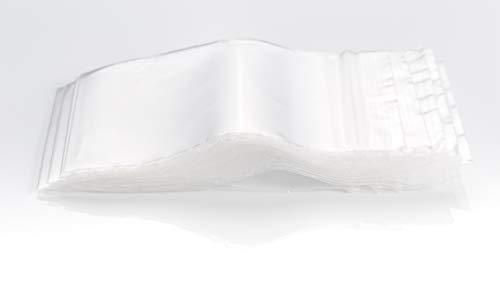 Bolsas transparentes con cremallera – Lote de 100 unidades – Grosor 50 micras – Tamaños a elegir (50 x 70 mm)