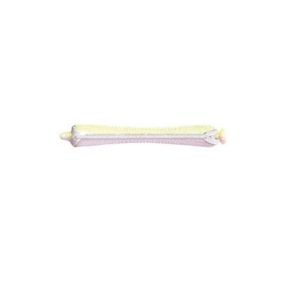 Bigoudis permanente rose/jaune court, 7mm, Mezzo