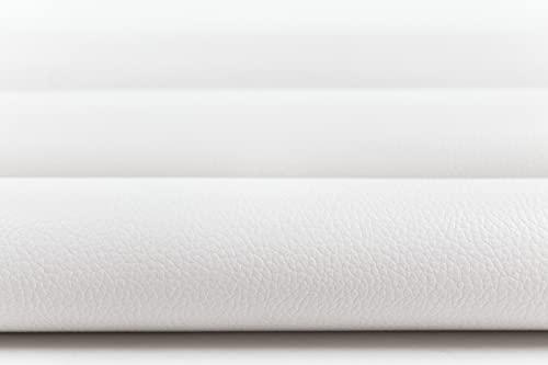 Generico Morbido Tessuto in Ecopelle - Finta Pelle al Mezzo Metro - Similpelle Impermeabile per arredo sedie, divani Interno/Esterno - Altezza 140 CM - 1 Quantità = 50 CM (Bianco)