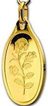 5 Gram Oval Gold Bar with Pendant Rose, Emirates Gold