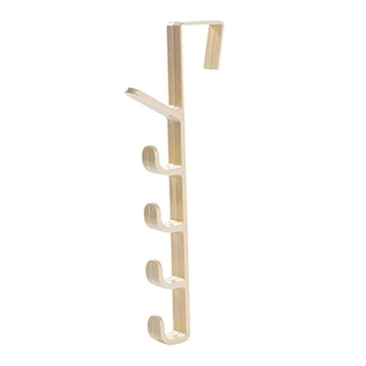 橋参照するノミネートZYIS 木製の拡張可能なコートラック、ドアバックスタイル帽子洋服バッグオーガナイザー吊るすハンガーフックホルダーラック(コーヒー) (色 : 白)