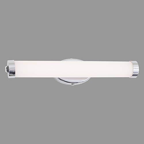 Briloner Leuchten Wandleuchte, LED Spiegelleuchte, Farbtemperatursteuerung, Dimmbar, Memory-Funktion, inkl. Schalter, IP44, 8W, 720 Lumen, Chrom-Weiß, 8 W