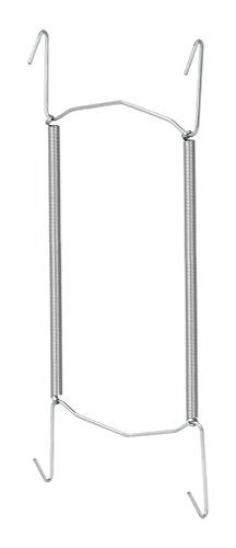 Metaltex 209002 Sorepro Porte-Assiettes à Ressort pour Assiettes d'un diamètre Entre 18 et 26 cm Couleur Acier Naturel