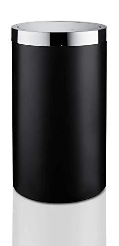 Joop! Blackline Wäschebehälter - Chrom/Schwarz