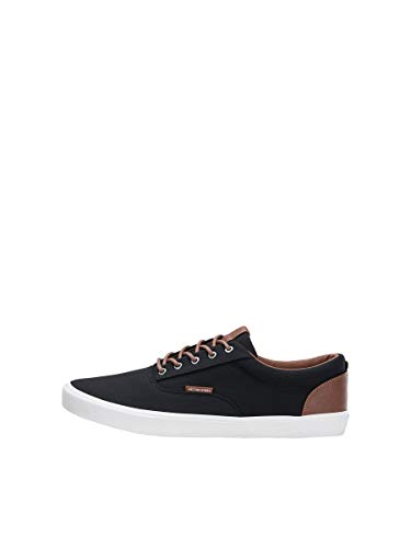 Jack & Jones Jfwvision Classic Mixed, Sneakers Basses Homme, Gris (Anthracite Anthracite), 43 EU