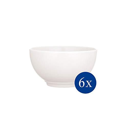 Villeroy & Boch - Twist White Bol-Set, 6 tlg., 650 ml, Premium Porzellan, spülmaschinen-, mikrowellengeeignet, weiß