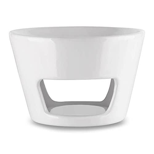 Aromabrenner - Große Duftlampe Keramik Weiß Ø 15cm - Höhe 10cm - Besten für Stressabbau - Aromatherapie - Entspannung - Aromalampe für Raumdüfte - Duftlampe für Raumerfrischung - 3 Kerzen Kostenlos