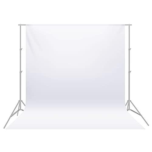 Neewer 3 x 6M Plegable Telón de Fondo de 100% Pura Muselina para Estudio fotográfico Fondo fotográfico para Fotografía, Vídeo y Televisión (Blanco)