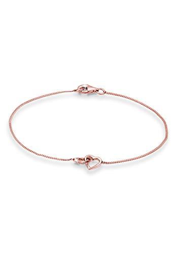 Elli Armband Damen Herz Symbol Verschlungen in 925 Sterling Silber Rosé