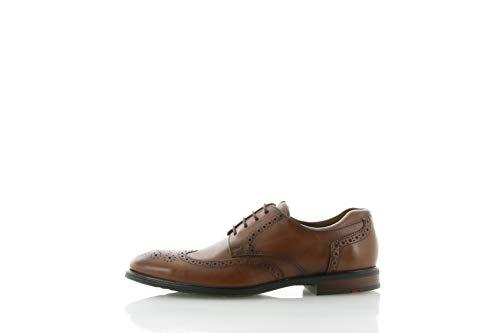 LLOYD Herren Businessschuh Marian, Männer Schnürhalbschuhe,VARIOFOOTBED,X-Motion, anzugschuh Herren Maenner maennliche robust,Cognac,9 UK / 43 EU