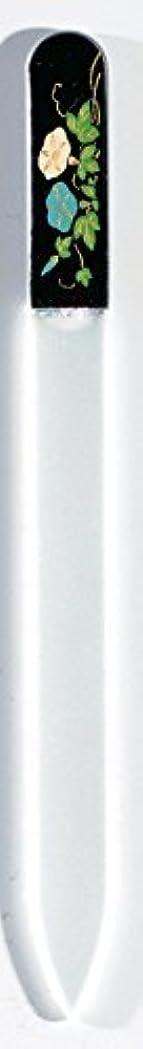 改修甘やかすスクリーチ蒔絵 ブラジェク製 爪ヤスリ 七月 朝顔 紀州漆器