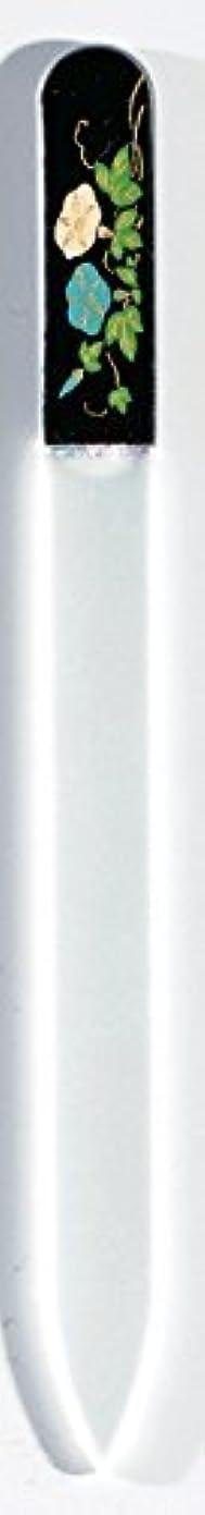 せっかち泣くテーブル蒔絵 ブラジェク製 爪ヤスリ 七月 朝顔 紀州漆器