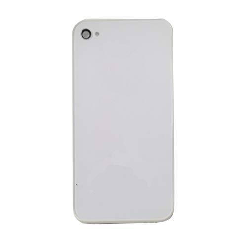 Best Shopper - Replacement Back Housing Glass Cover + Camera Lens for Apple iPhone 4S - White