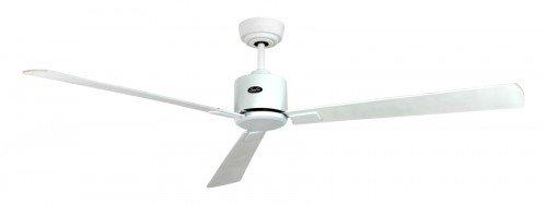 Energiebesparende plafondventilator Eco Neo II 152 cm lak wit vleugels lichtgrijs/wit