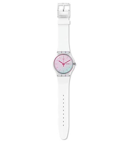 Swatch Unisex– Erwachsene Analog Schweizer Quarz Uhr mit Silicone Armband SUOK713