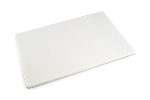 Commercial Plastic Cutting Board NSF, Extra Large, 24 x 18 x 0.5 Inch, White