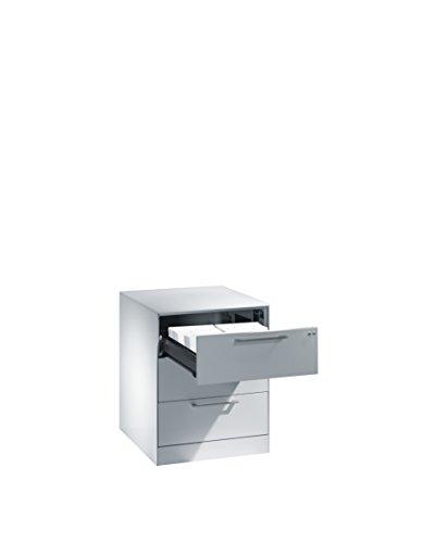 Karteischrank Asisto für Karteikarten DIN A5 quer, 3 Schubladen, zweibahnig