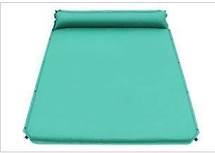 Tapis imperméable à l'eau extérieur Ultra léger Pad Gonflable Automatique Double Widening Pad Pad 3-4 Personnes épaississent Tapis de Couchage Pad Tapis de Voyage Wild Mat (Couleur : Green)