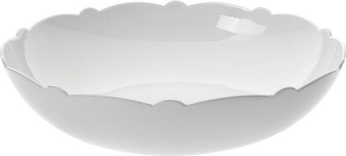 Alessi Mw01/38 Dressed Saladier à dessert en Porcelaine Blanche avec Décoration en Relief