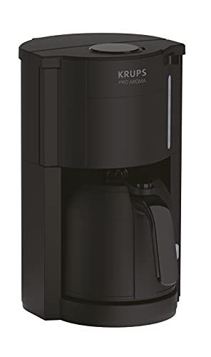KRUPS Pro Aroma KM303810, Ekspres do kawy, Przelewowy, Dzbanek termiczny utrzymujący temperaturę, Pojemność 1 L, Łatwy i funkcjonalny w użytkowaniu