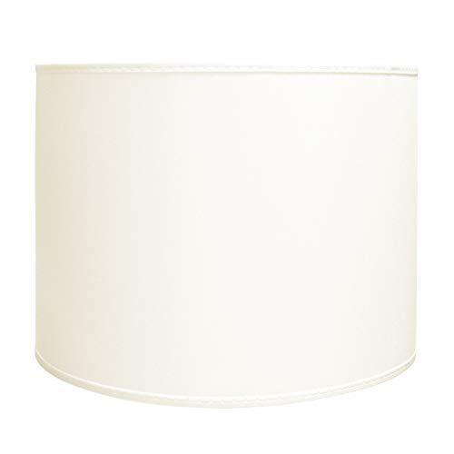 Varia Living Ersatzschirm Zylinder für Hängelampe in Creme Lampenschirm rund für Pendelleuchte aus Stoff | Fassung E27 und E14