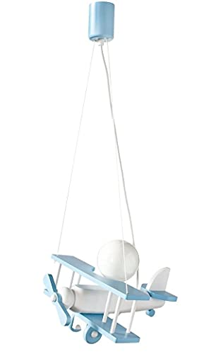 ItalPol Produkt Splendida Lampada lampadario Aereo Piccolo 32cm x 30cm cameretta Bimbo in Legno.