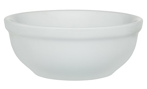 HIC Chili, Soup and Cereal Bowls, Set of 4, Fine White Porcelain, 16-ounces