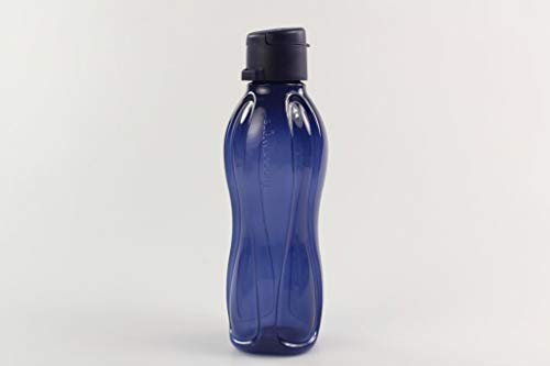 Tupperware to Go Trinkflasche Eco 500 ml dunkelblau Clipverschluss Öko Ecoflasche 35344