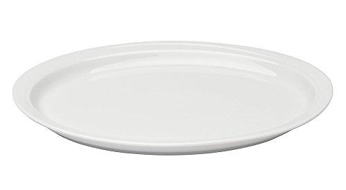 Berghoff Plat Ovale en Porcelaine vitrifiée, Blanc, 30 cm, 30,5 cm, Lot de 2