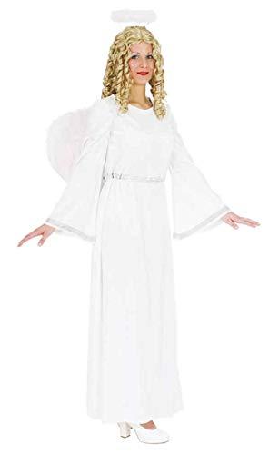 Faschingskostüm Damen Engel, weiß-silber (Kleid) Gr. 40/42