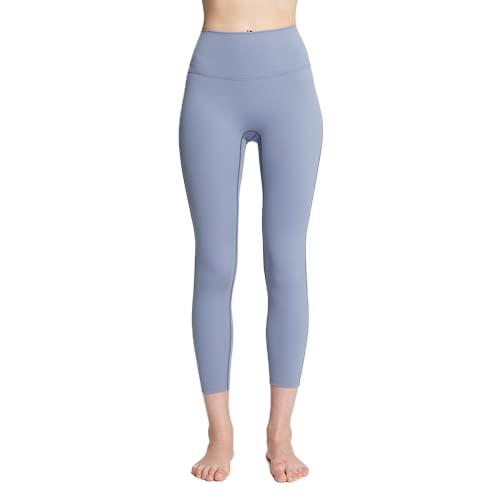Pantalones de Yoga para Mujer Elásticos de Secado rápido de Cintura Alta Flexiones Anti-Sentadillas Gimnasio Mallas para Correr E XL