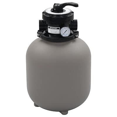 Cikonielf Filtro de arena para piscinas, válvula de 4 posiciones, 7 m3/h, 50 PSI, bombas de arena, prefiltro, litros, purificador fuera de tierra gris, 350 mm