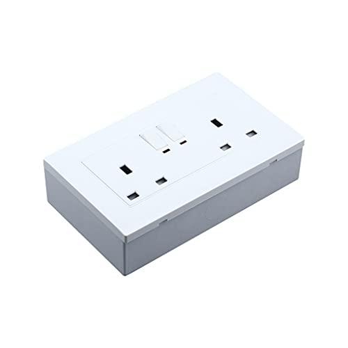POO 146 tipo interruptor de pared tipo zócalo inferior fuera de línea brillante interruptor zócalo blanco 148 x 87 x 32 mm