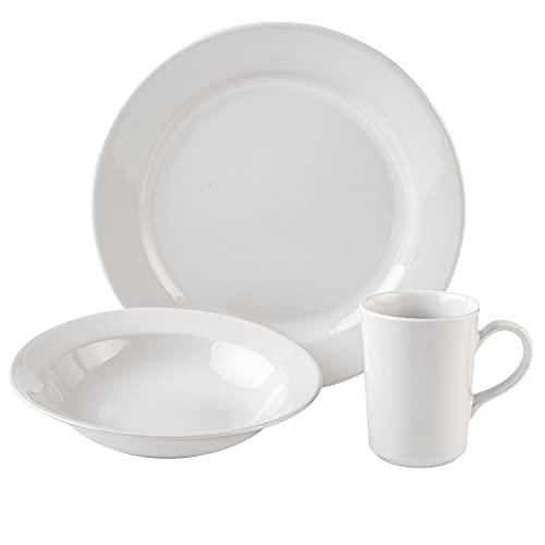 SANTA ANITA Juego de Vajilla De Cerámica Para 4 Personas, 12 Piezas. Juego de platos para mesa para 12 personas, Apta para lavavajillas, microondas (Barcelona)